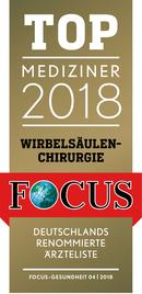 Focus-Siegel TOP Mediziner Wirbelsäulenchirurgie